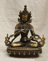 "8"" Tibet Budhdism Copper Seat Vajradhara Vajrabhairava Goddess Buddha Statue"
