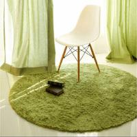 Round Short Plush Carpet Soft Shaggy Cushion Kids Area Rug For Living Room Slip Resistant Yoga Door Mat 80*80cm
