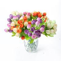 Coloful Romantic Artificial Mini Rose False Faux Rose Silk Flowers Wedding Rose