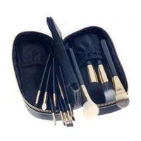 High Quality Gold Makeup Brush Powder Eyeshadow Brushes Set with Zippered Case Bag