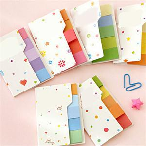 New Rainbow Color Mini Memo Pads Cute Sticky Notes School Supplies Memos For Students(China (Mainland))