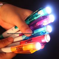 Colorful LED light plastic pen ballpoint pen promotion pen