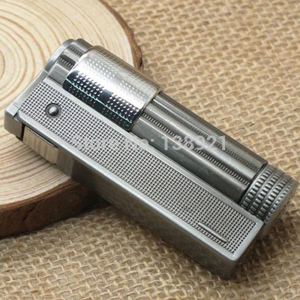 Retro Style Five Stars Stainless Steel Kerosene Cigarette Lighter Oil Lighter-Silver(China (Mainland))