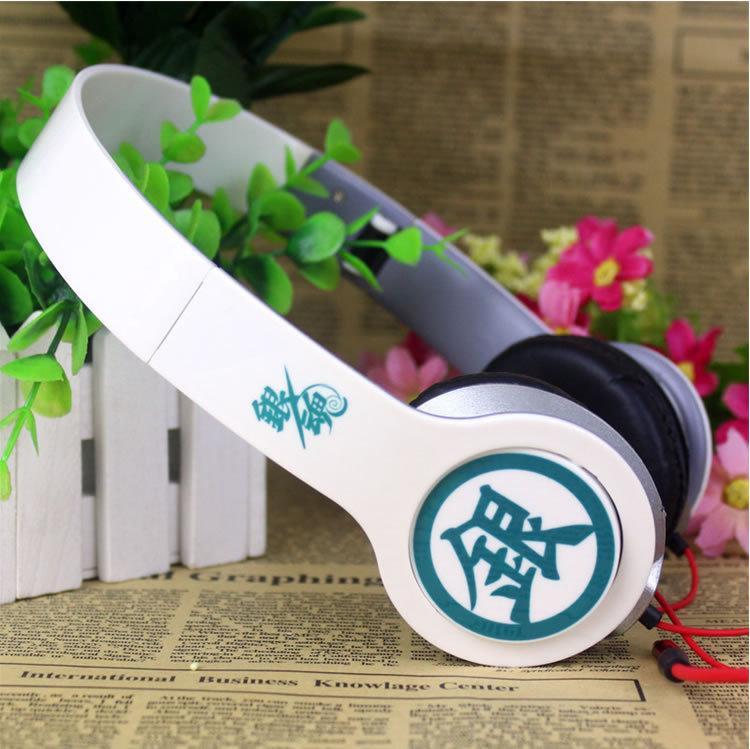 Free Shipping! Japanese Anime Gintama Silver Soul Sakata Gintoki Cosplay Headband Earphone Headphone Birthday Christmas Gift()