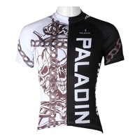 Paladin Skull With Chain Cycling Polyester Cycling Shorts Full Zipper Cycling Skinsuit