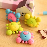 4X Cartoon Crab Animal Pencil Eraser Rubber School Supplies for kid Material escolar borracha stationery product Gift