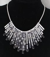 New Hot Popular Individual Design Black Enamel Elegant Gold Color Chain Alloy Collar Necklace For Women 2015 Fashion Bijoux