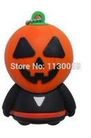 Halloween pumpkin usb removible disk thumb pen 4G 8GB 16G 32GB USB Flash Drive U disk  Stick Pen/Thumb/  S504