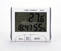 Hot LCD Weather Station Wireless 3 In 1 Indoor Outdoor Digital Thermometer Hygrometer Humidity Meter Timer Clock Alarm SV011170