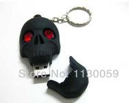 skull flashlight LED wholesale usb flash Drive Card Memory  2GB 4GB 8GB 16GB 332GB U disk pen drive S59
