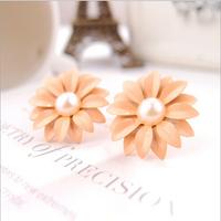 Little Daisy Earrings Crystal Ear Studs Crystal Orchid Flower Stud earrings Free shipping