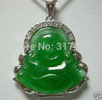Beautiful Green Jade Buddha Pendant Necklace