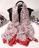 Silk paj scarf, flower retange scarves, silk long scarf free shipping