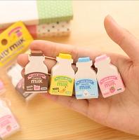 2X Cute Milk Bottle Design Pencil Eraser Rubber School Supplies for kid Gift Material escolar borracha stationery product Gift
