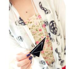 2015 bijuterias para as mulheres triângulo de Metal moda tudo match camisola cadeia hip hop jewelry barato mercadoria bling beleza(China (Mainland))
