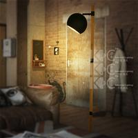American wood creative floor lamp personalized vintage floor lamp sofa lights