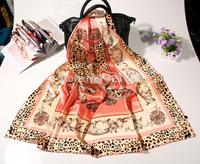 Leopard print silk satin scarf 100% silk scarf women Shawl Scarf scarve Womens birthday gifts