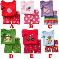 free shipping 2014 new 100% cotton kids baby clothing 2 pcs set baby girl boy pajamas of the children pyjamas toddler BOS.245