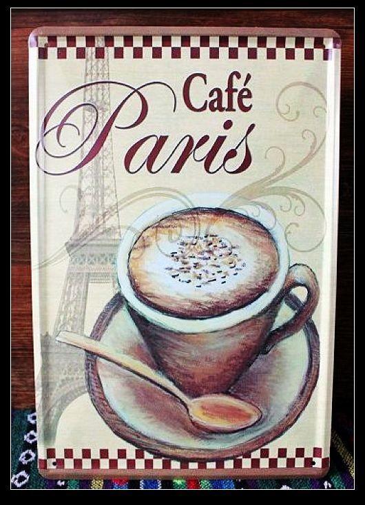 Vintage bar decor coffee shop poster metal painting crafts retro art home decor strawberry coffee(China (Mainland))
