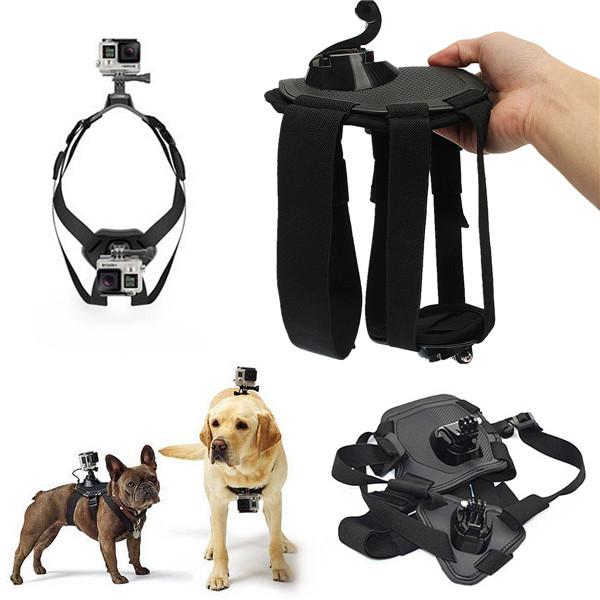 Dog Fetch Hound Harness Chest Shoulder Strap Belt +Mount +J Hook for GoPro Camera Hero 4 3+ 3 SJ4000(China (Mainland))