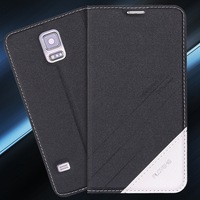 S5 Original Brand Luxury PU Leather Case For Samsung Galaxy S5 SV I9600 Magnetic Flip Cover Full Pouch Bag Wallet Leather Case