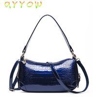 2015 the new Europe fashion handbags crocodile grain painted Crescent  women bag diagonal portable women messenger bags N-042