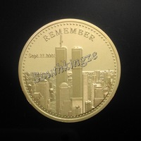Top 5 pcs/lot In Memory of those we have lost Sept. 11. 2001 souvenir gold clad coins free shipping