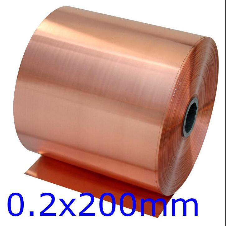 0.2x200mm 1 meter 99.90% T2 Copper foil,Copper tape,Copper Strip Hardware DIY accessories(China (Mainland))