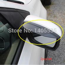 Car rearview mirror rain eyebrow For Volkswagen vw Tiguan Golf 6 Golf 7 Polo Jetta MK6 Passat B6 B7  CC (China (Mainland))