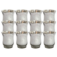 "New! Buy 2 lots 15% discount! 4.3""H AntiqueStyle Silver Mercury Votive Candle holder USD58.80 for 12pcs/Each USD4.90"