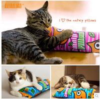 Cat pet supplies hot-selling cartoon cat pillow cat toy organic cat Catnip pillow