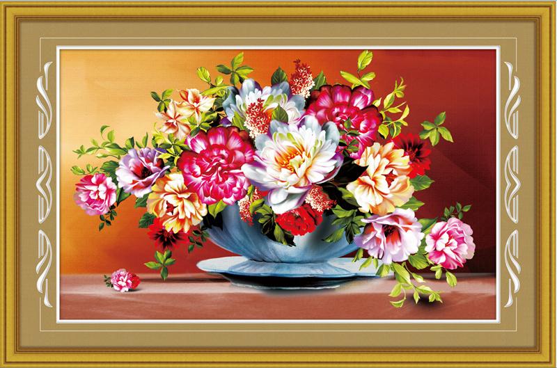 76*50 home decor beautiful flowers pattern 5d diy diamond painting rhinestone embroidery beads mosaic kit handmade crafts 1487(China (Mainland))