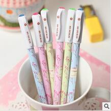 Duolala stationery supplies cute Korea blue desk gel pens school writing 0.38mm 36pcs/set Oulm wholesale/artigos papelaria stylo(China (Mainland))