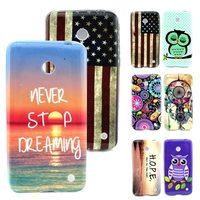 For Lumia 630 Cute Cartoon OWL Flower Dream National Flag Soft TPU Gel Back Silicon Case for Nokia Lumia 630 N630 Phone Cases