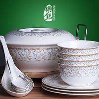 Ceramics romantic a family of 56 quality bone china dinnerware set dishes marriage