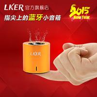 Lker fun wireless bluetooth speaker portable mini outdoor speaker metal mobile audio small steel gun