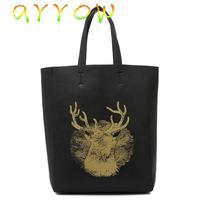 2015 women bag new Europe and the big gilded deer head  simple shoulder bag women messenger bags C-238