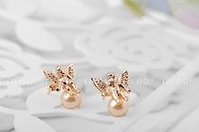 ROXI fashion new arrival genuine Austrian crystal Cupid Earrings women trendy earrings Chrismas Birthday gift 2020015230