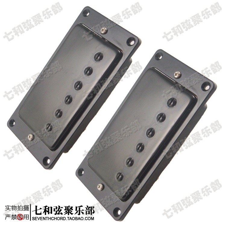 A Set of 2 Guitar Humbucker Double Coil Pickups For LP Guitar,Bridge & Neck Pickups (Black Cover With Black Frame)(China (Mainland))