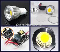 100Pcs/lot GU10 Base Type 7W COB LED Bulb Light led lamp spotlight Warm White/Cool White High Brightness L24