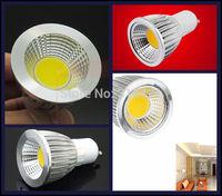 300Pcs/lot 7W COB LED Lights Spotlight GU10 Bulb Lamp AC85-265V Support Dimmable Warm White/Cool White L24