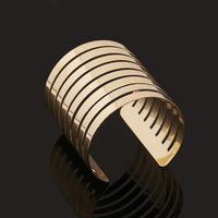 2015 New Fashion punk cuff bangle charm 18k gold Unique Geometry Irregular bracelet jewelry for women BZ0208