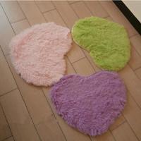 Heart Shape Long Plush Carpet 4 Size Kids Cushion Soft Shaggy Area Rug Slip Resistant Door Mat Free Shipping