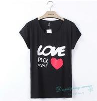 Woman Summer T shirts Women Short-sleeved t shirt Printed Letters T Shirt Summer Free Shipping