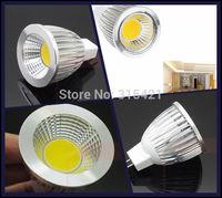 300Pcs/lot MR16 LED spotlight bulb cob bulb lamp High brightness bulbs 7W DC12V Cold white/warm white L25