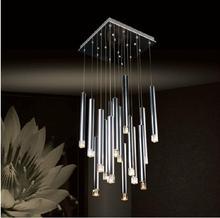 Modern Energy Saving LED Chandelier Light Home Lighting Crystal Pendant Lamp Stair Lustre Dining Pendelleuchte(China (Mainland))