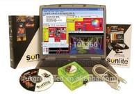 stage lighting controller ,DMX 1024 sunlite , PC-DMX decorder ,3 years warranty
