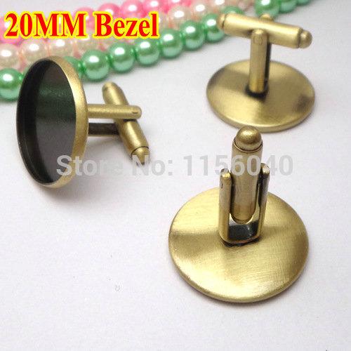 Top sale Cufflink Blanks,20mm Round Cufflink Bezel blanks,jewelry findings,Mens Cuff link,cameo setting,20pcs/lot,cufflink base(China (Mainland))