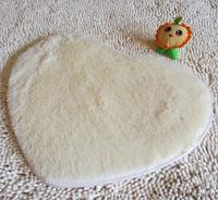 Short Plush Carpet 4 Size Kids Heart Shape Cushion Soft Shaggy Area Rug Slip Resistant Door Mat Free Shipping