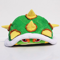 New Arrival Super Mario Koopa bowser plush hat doll Toy 21cm soft plush cap for Christmas gifts free shipping
